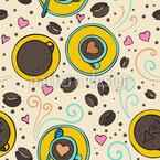 Coffee And Bean Seamless Vector Pattern Design
