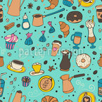 All About Coffee Seamless Vector Pattern Design