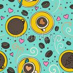 Kaffee Und Herzen Muster Design