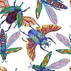 Tropische Insekten Designmuster