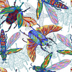 Tropical Insects Seamless Pattern