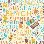 Der Strandurlaub Muster Design