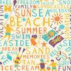 Der Strandurlaub Nahtloses Vektormuster