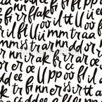 Letras de dança Design de padrão vetorial sem costura