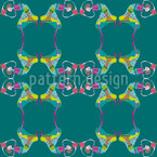 Клубничный танец Бесшовный дизайн векторных узоров