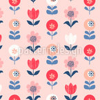Schöne Retro-Blumen Nahtloses Vektormuster