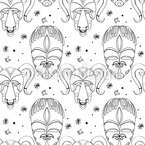 Inca Gods Seamless Vector Pattern Design