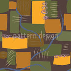 Abstract Rivers and Fields Seamless Vector Pattern