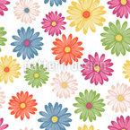 Farbenfrohe Gänseblümchen Nahtloses Vektormuster