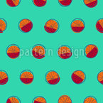 Blood Oranges Seamless Vector Pattern Design