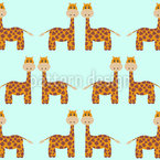Giraffes Repeating Pattern