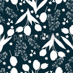 Tulip Silhouettes Repeat Pattern