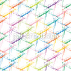 Multicolor Grunge Grid  Pattern Design