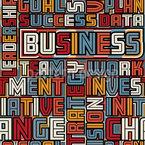 Business Worte Nahtloses Vektormuster