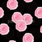 Rosas Estilo Vintage Estampado Vectorial Sin Costura