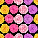 Vintage Rosen Rapportiertes Design