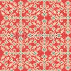 Ornamente in rot gezeichneten Arabesken Vektor Ornament
