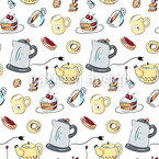 Grandmas Tea Party  Seamless Vector Pattern Design