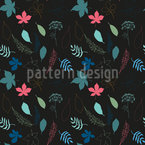 Urban forest by night Seamless Pattern