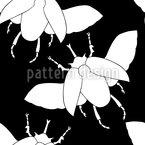 Fliegende Käfer Nahtloses Vektormuster