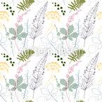 Wiesenblüten und Kastanien-Efeublätter Rapport