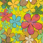 Pretty Wildflowers Vector Pattern