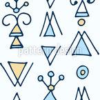 Fantasie Dreiecke Nahtloses Vektormuster