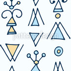 Fantasy Triangles Seamless Vector Pattern Design