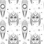 Maya Ceremony Masks Seamless Vector Pattern Design