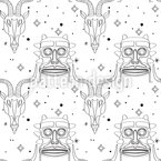 Ancient Gods Seamless Vector Pattern Design