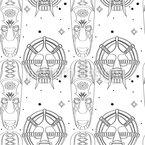 Zeremonie Masken Nahtloses Vektor Muster