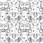 Inka Zeremonie Masken Vektor Muster