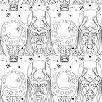 Ethno Götter Rapportiertes Design