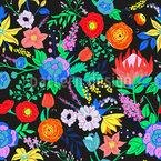 Ausdrucksvolle Flora Musterdesign