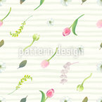 Summer Garden Seamless Vector Pattern Design