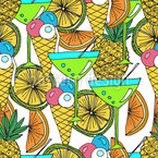 Cocktails And Ice Cream Seamless Pattern