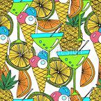 Cocktails und Eis Nahtloses Muster
