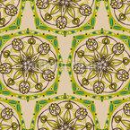 Geometria da Natureza Design de padrão vetorial sem costura