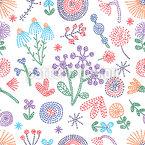 Sommerblumen Steppungen Nahtloses Muster