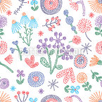 Summer Flower Stitchings Seamless Pattern