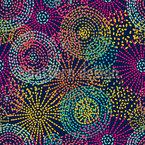 点線の花の落書き シームレスなベクトルパターン設計
