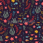 Colorful Coral Reef Seamless Vector Pattern Design
