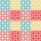 Смешанные квадраты Бесшовный дизайн векторных узоров