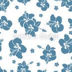 Flores Tropicais de hibisco Design de padrão vetorial sem costura