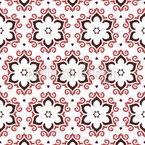 Verspielte Blumen Musterdesign
