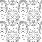 Göttermasken Nahtloses Vektormuster