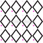 Rhombus with Colorful Dots Seamless Vector Pattern