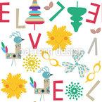 Kinder Durcheinander Musterdesign