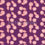 Composizione di fiori tropicali disegni vettoriali senza cuciture