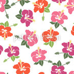 Romantic Hibiscus Blossom Pattern Design